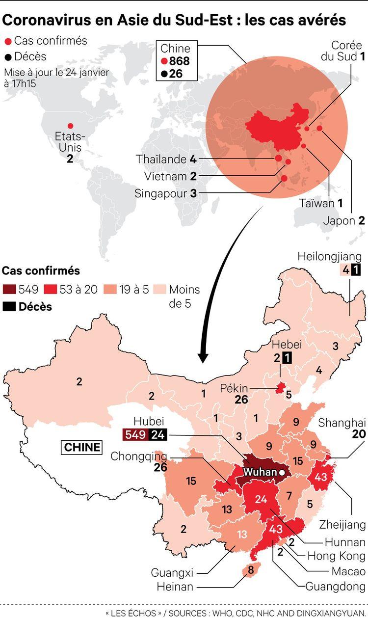 Coronavirus : deuxième cas aux Etats-Unis, l'épidémie s'étend hors de Chine