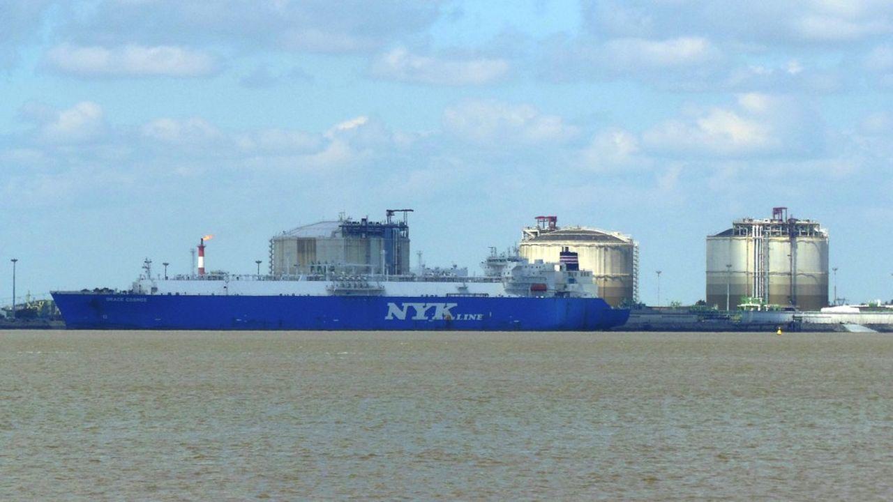 Les trois terminaux français d'importation de GNL à Fos-sur-Mer, Dunkerque et Montoir-de-Bretagne (photo) ont tourné à plein régime l'an dernier.