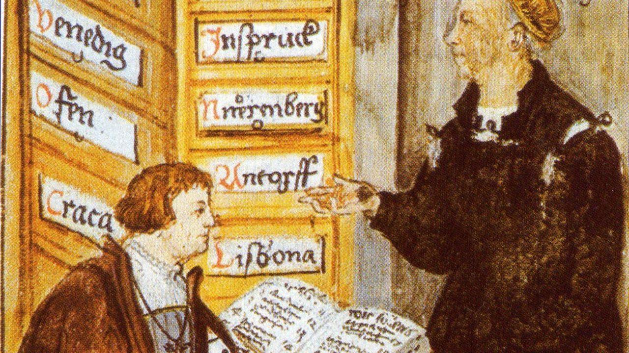 Jacob Fugger, ici avec son comptable, a été l'un des banquiers les plus célèbres d'Europe au XVesiècle.