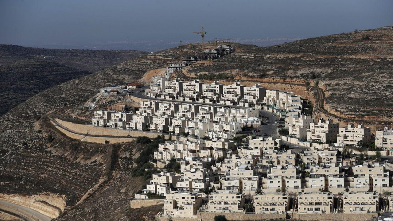 La colonie israélienne de Givat Zeev, près de la ville palestinienne de Ramallah.