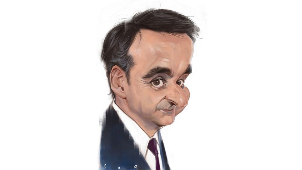 Kyriákos Mitsotákis, caricature par ïoO, pour «Les Echos».