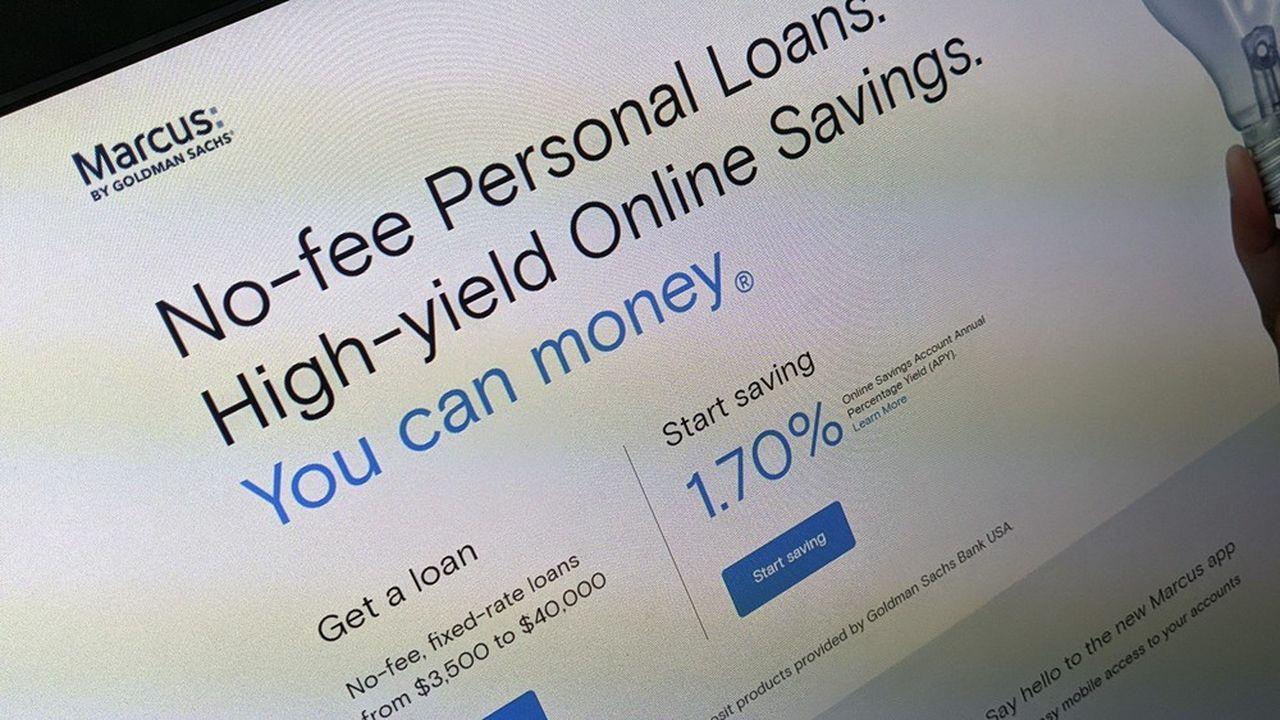Baptisé du prénom du fondateur de la banque, Marcus «by Goldman Sachs» est entré sur le marché avec un simple compte d'épargne et une offre de prêt en ligne.