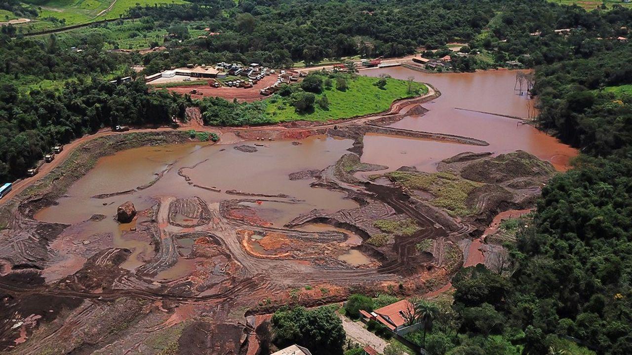 Vue aérienne de Parque da Cachoeira, à Brumadinho dans l'Etat deMinas Gerais.