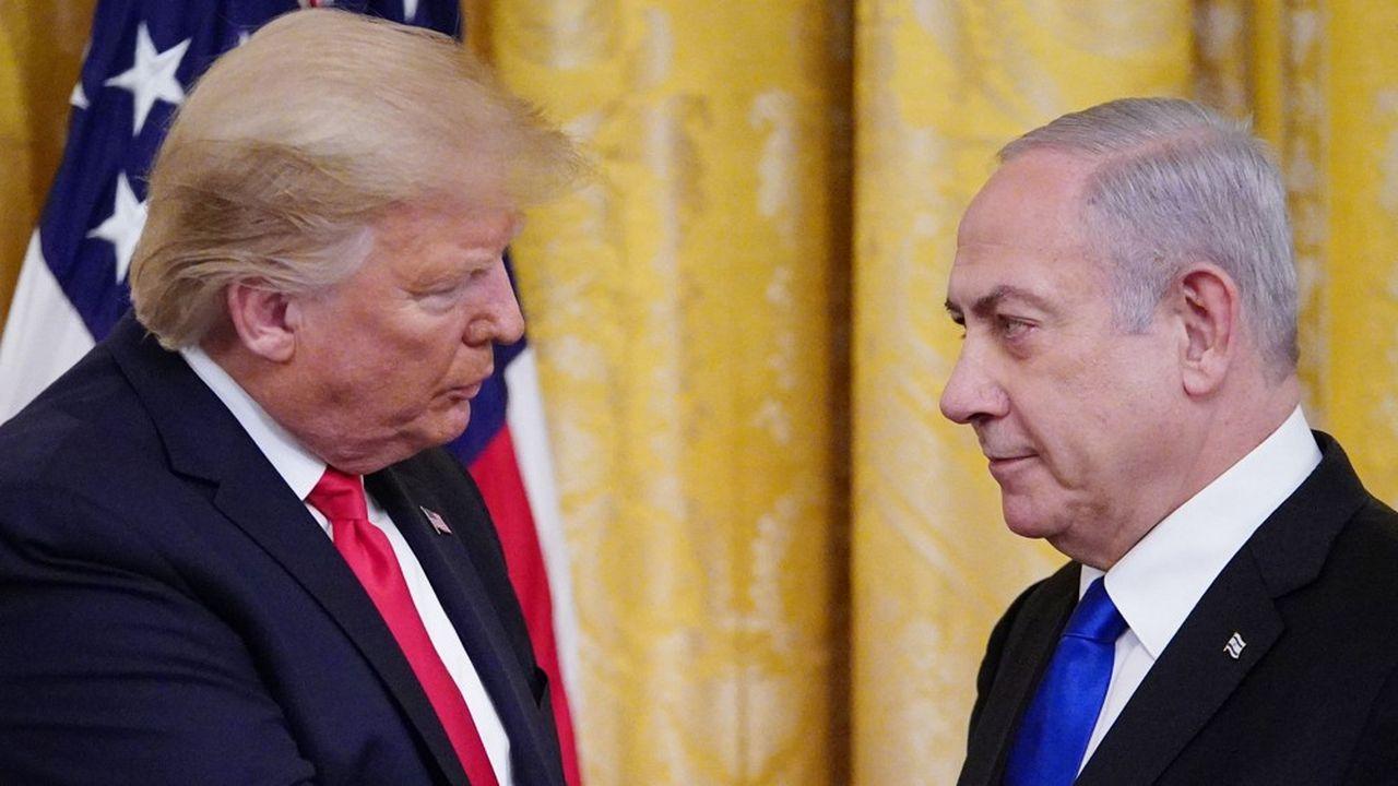 Le Premier ministre israélien, Benjamin Netanyahu, et le président américain, Donald Trump.