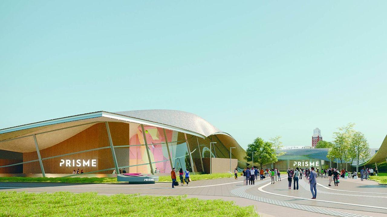 Le Prisme pourra accueillir sur 8.200 mètres carrés plus de 2.000 personnes.