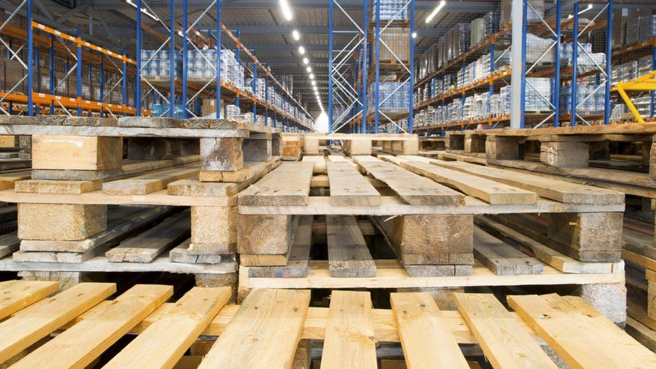 Plus de 3millions de palettes servent à transporter les marchandises entre le continent et la Grande-Bretagne, et effectuent plusieurs rotations chacune.