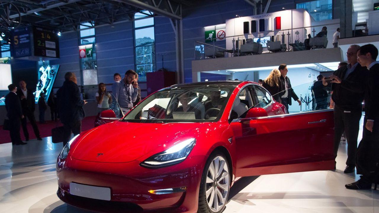 L'Île-de-France représente 31% des véhicules écoulés l'an dernier par la firme d'Elon Musk.