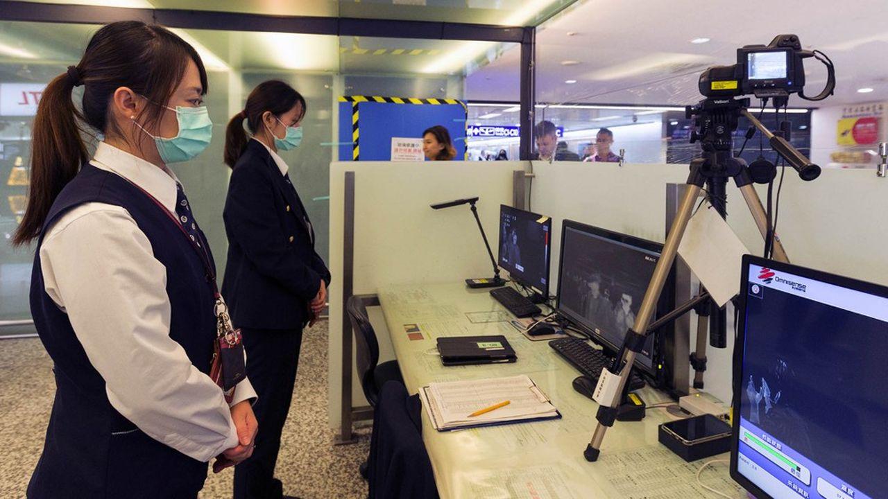 Partout dans le monde (à Taïwan sur notre photo), les contrôles aux frontières se généralisent.