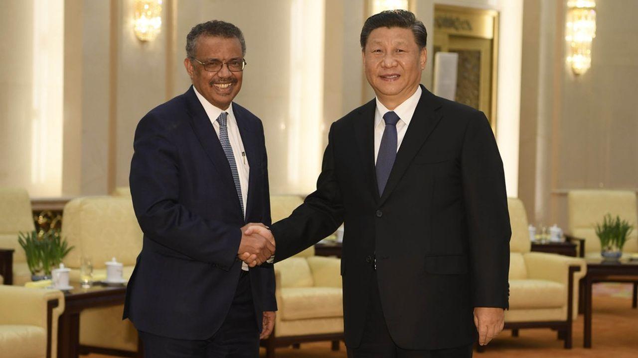 Tedros Adhanom, le directeur général de l'organisation mondiale de la santé a rencontré le président chinois à Pékin le 28janvier pour faire le point sur la situation générée par l'expansion du coronavirus.