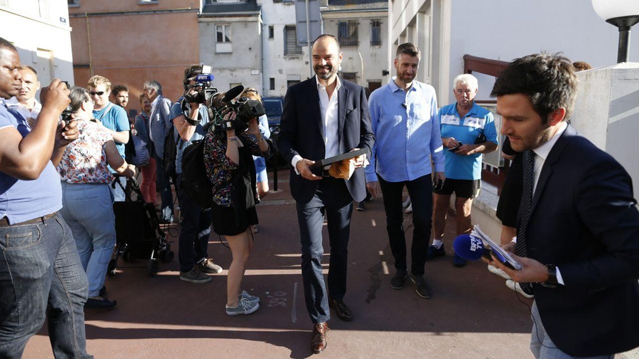 Le Premier ministre, Edouard Philippe, auHavre, en 2017, lors du second tour des élections législatives.