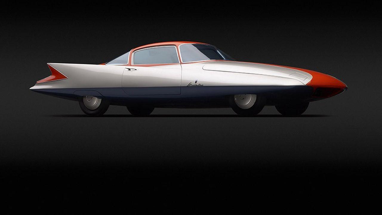 La Ghia Streamline X « Gilda » de Chrysler (1955), à voir à l'exposition «Concept Car. Beauté pure» au château de Compiègne.