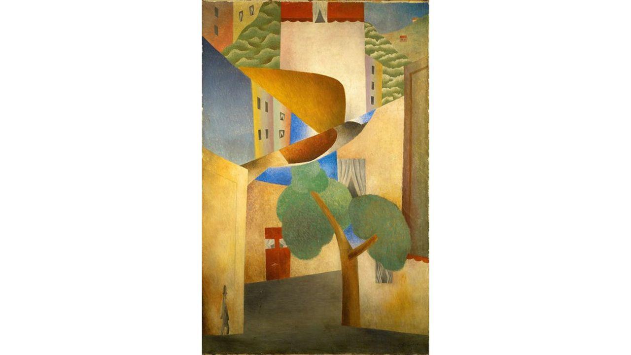 «L'Homme dans la ville», de Léopold Survage (1915). Huile sur toile (101 x 65.5cm). Provenance: collection Haba et Alban Roussot.