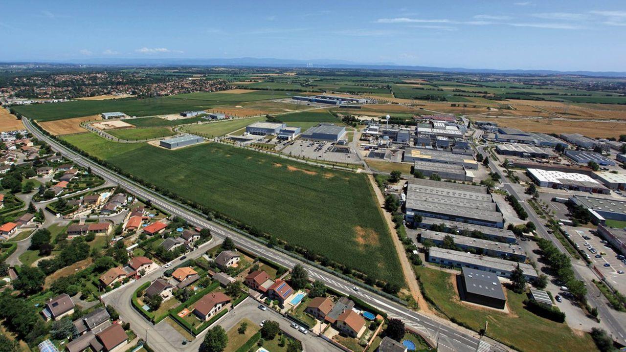 LaZacdes Gaulnes, à Jonage, où doit s'installer l'usine de Chimimeca.