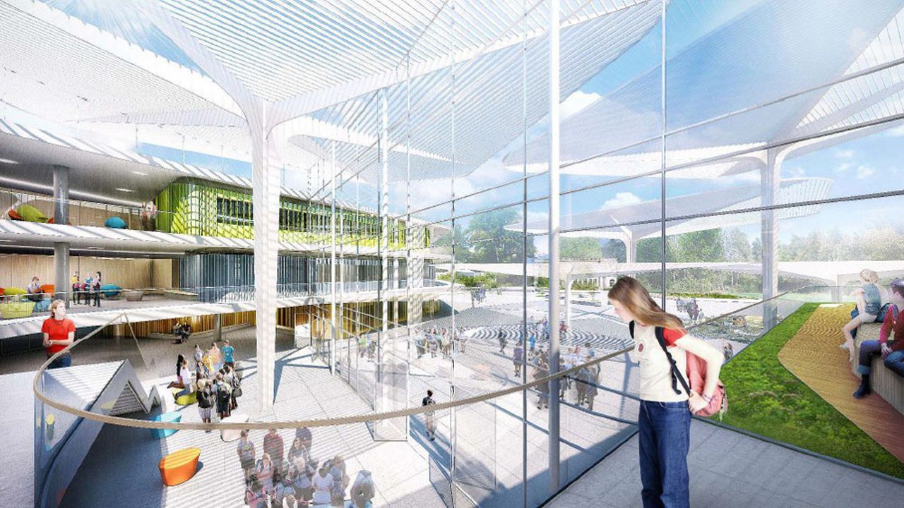 Nichée dans un parc de 3 hectares, la cité scolaire de Buc va faire l'objet d'une vaste opération de réhabilitation et d'extension.