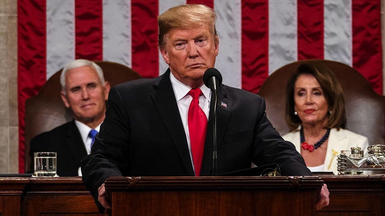 Donald Trump lors de son discours annuel sur l'état de l'Union, en février l'an dernier.