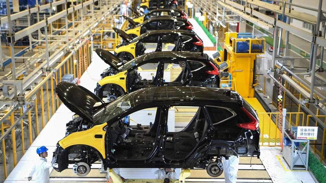 La ville de Wuhan, le «Detroit chinois», concentre à elle seul 9% de la production automobile chinoise (ici l'usine Dongfeng Honda) et abrite des centaines de fournisseurs de pièces automobiles.