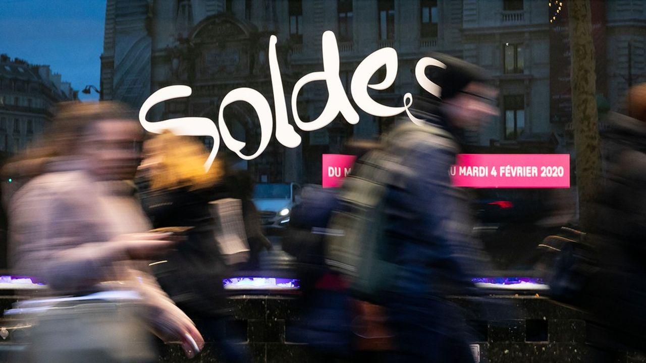 Les ventes des soldes d'hiver devraient être inférieures de 5 à 10% à celles de l'an passé.