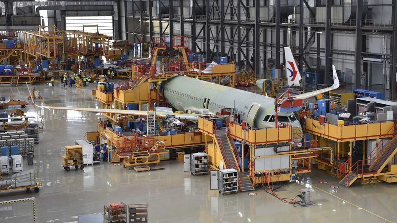 Située à 100km de Pékin, la chaîne d'assemblage d'Airbus produit cinq à six A320 par mois.