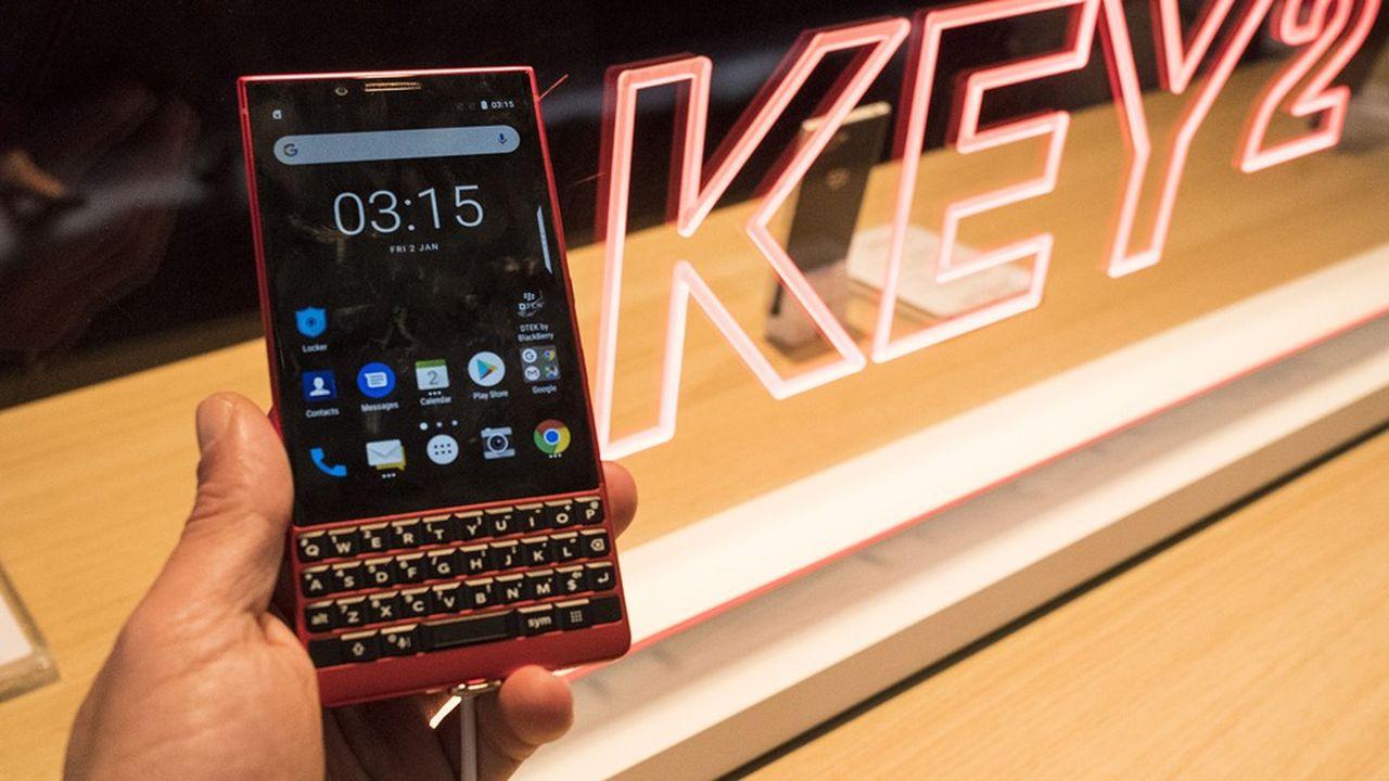 Les smartphones Key2, derniers modèles de BlackBerry, sont sortis en 2018.