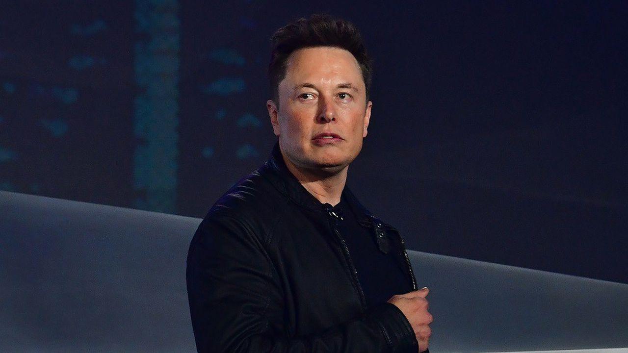 L'action de la firme d'Elon Musk avait atteint son plus haut historique mardi, à887dollars.