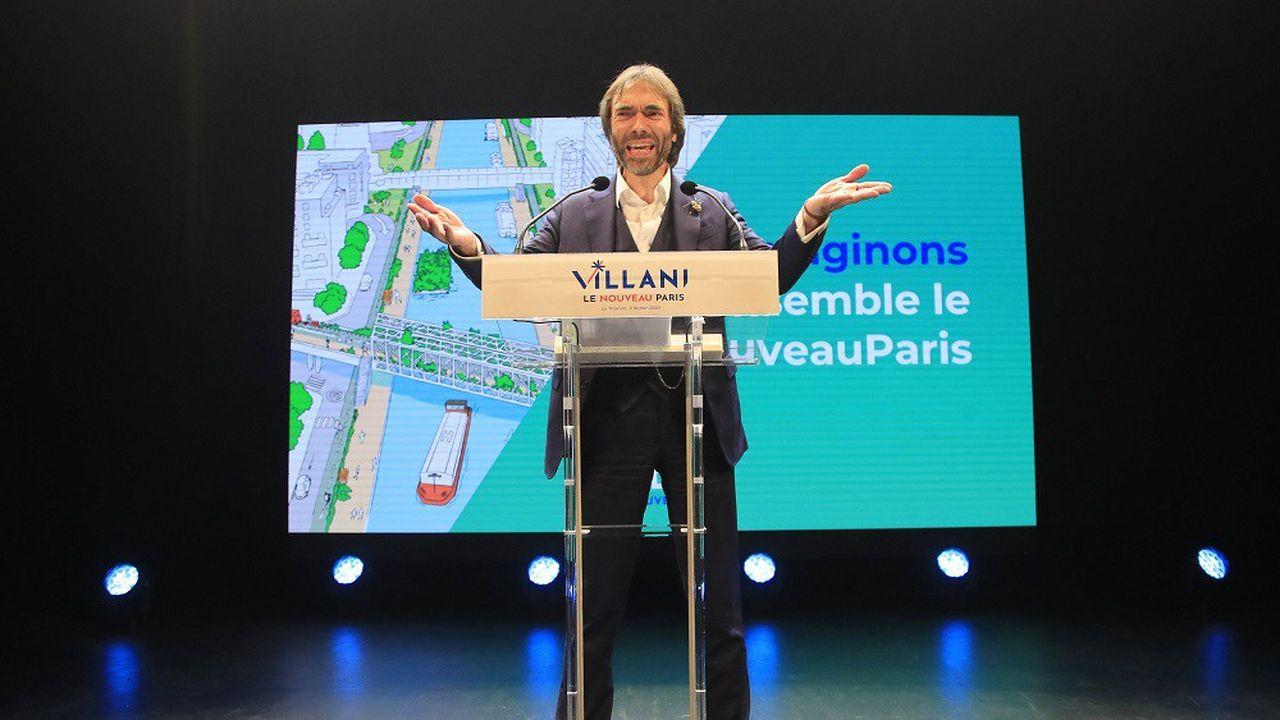 En meeting au Trianon, Cédric VIllani a déclaré vouloir «réparer» le Paris de 2020 et de «préparer» le Paris de 2030.