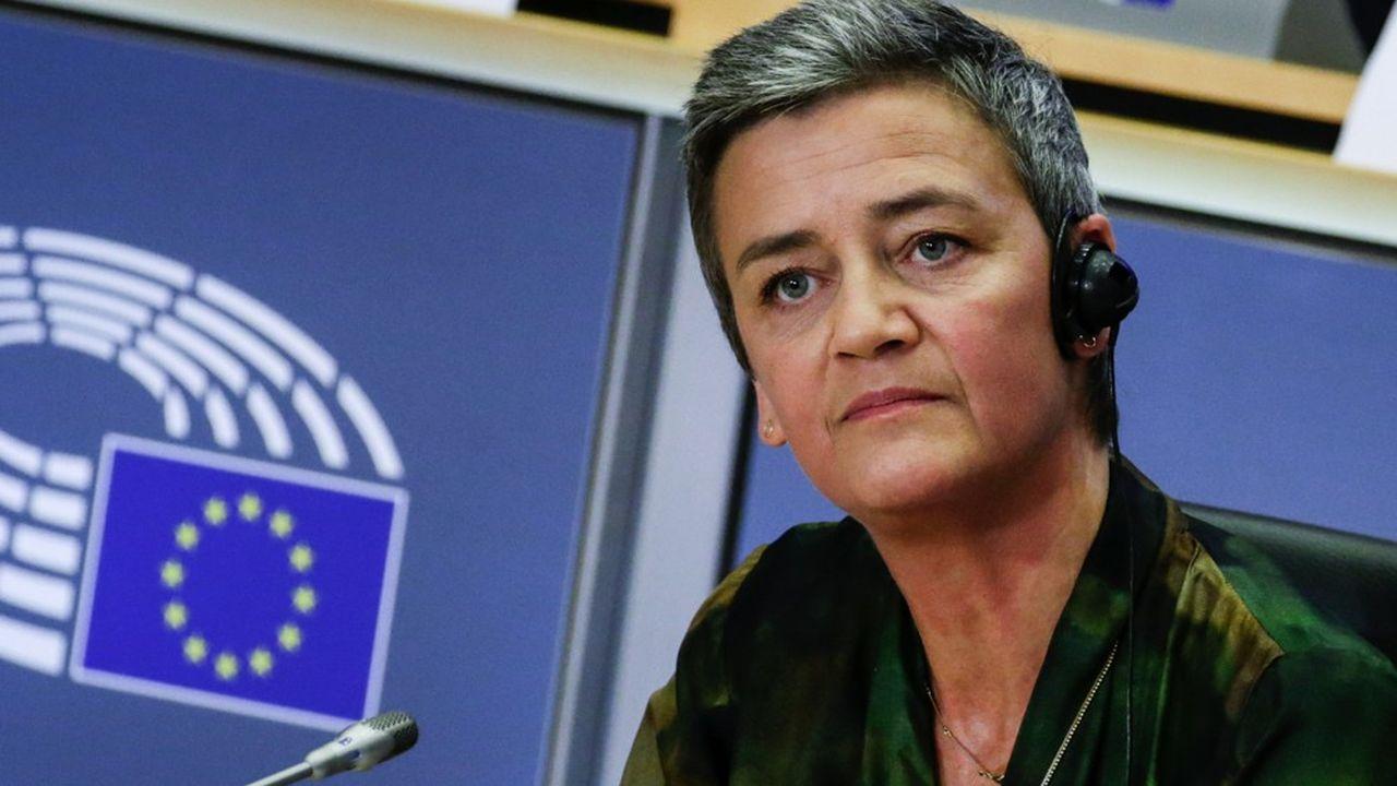 La Danoise Margrethe Vestager, vice-présidente de la Commission européenne, a rejeté en 2019 la fusion entre Alstom et Siemens. (Photo by Aris Oikonomou/AFP)