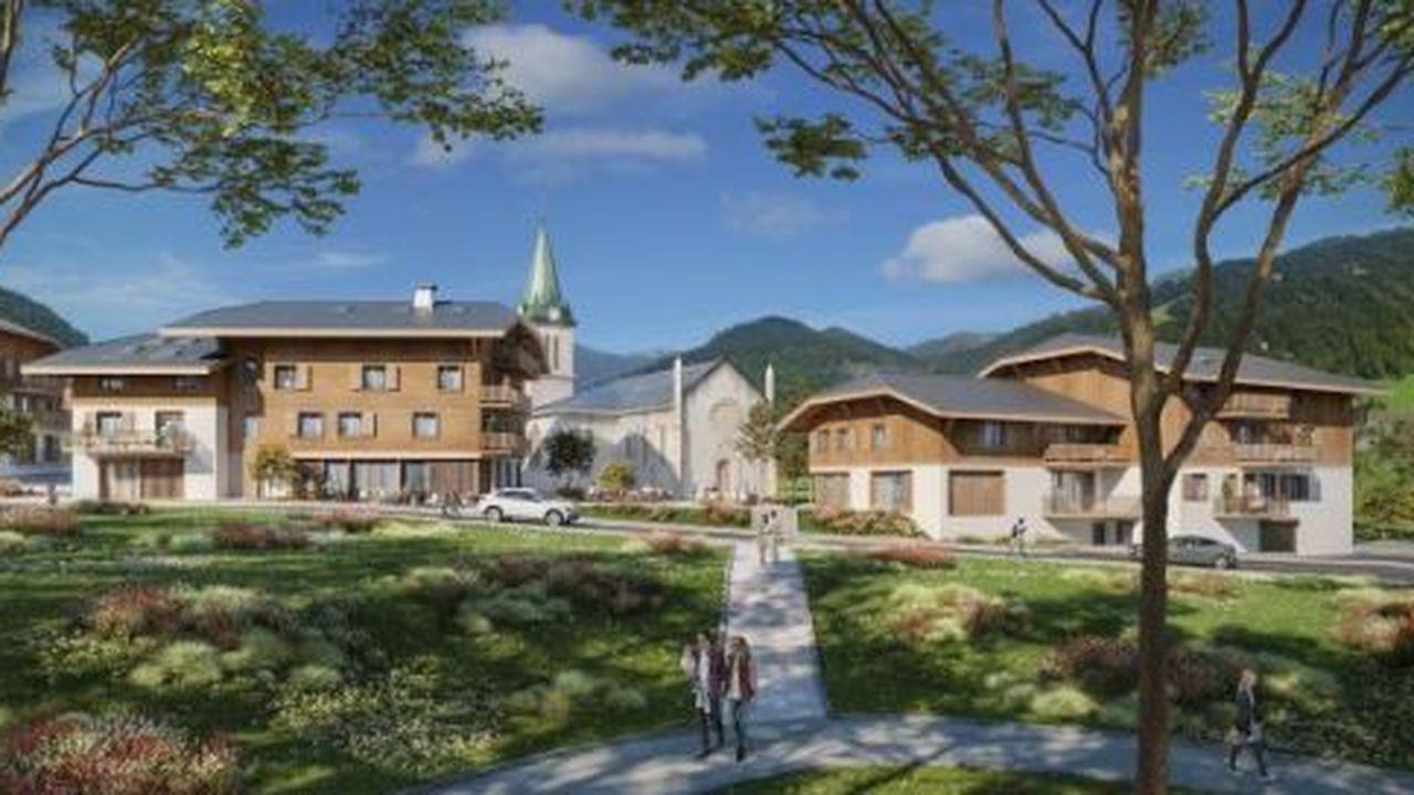 Le centre du village est en cours de réaménagement et un quartier piétonnier va être créé autour de l'église.