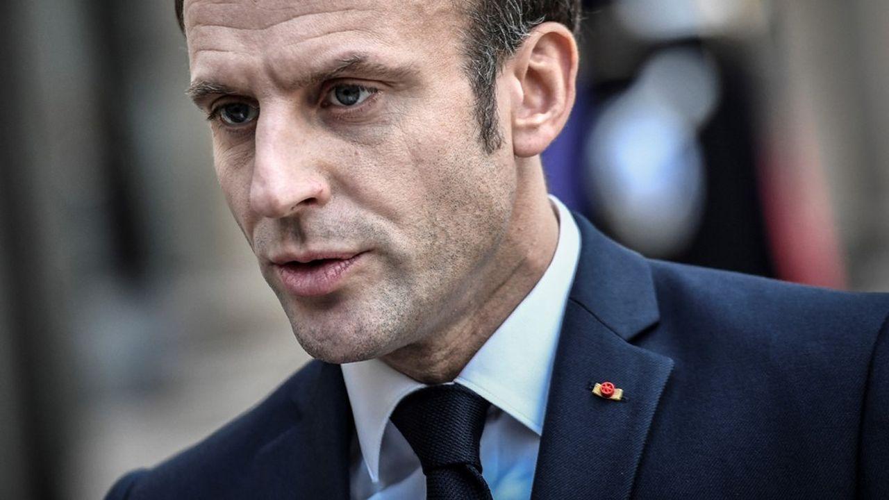 Emmanuel Macron, lors d'un point de presse en marge de sa rencontre avec le président argentin le 5février, fait face à une forte baisse de popularité. Pour le «FT», le risque est de voir Marine Le Pen remporter les élections de 2022.