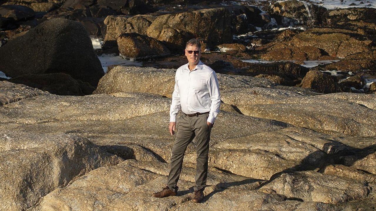 Michel Dancoisne-Martineau, l'homme qui a fait revivre la dernière demeure de l'Empereur à Sainte-Hélène, photographié le 23 décembre au Cap (Afrique du Sud).
