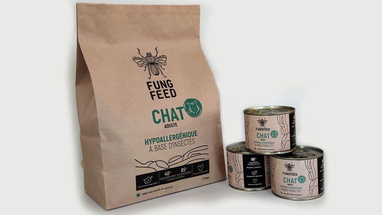 Fungfeed commercialisera à partir de mi-février une première gamme de croquettes pour chiens et chat faites à 60% de protéines d'insectes via le réseau des vétérinaires.