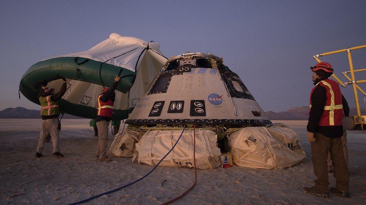 La capsule Starliner de Boeing avait dû se poser après seulement deux jours dans l'espace et n'avait pas réussi à rejoindre l'ISS pour son premier vol d'essai à vide.