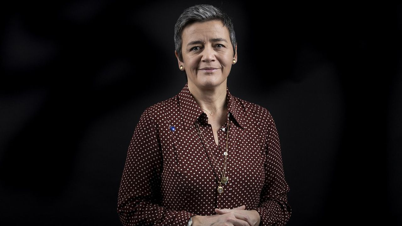 European Commission vice-president in charge Europe fit for the digital age Margrethe Vestager poses during a photo session in Brussels on January 15, 2020. (Photo by Kenzo TRIBOUILLARD/AFP)