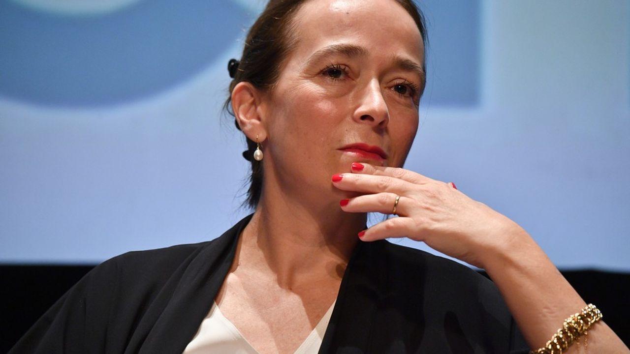 Delphine Ernotte, présidente de France Televisions, fait de la régionalisation de France 3 un axe fort de sa stratégie pour le futur. (Photo by Xavier LEOTY / AFP)