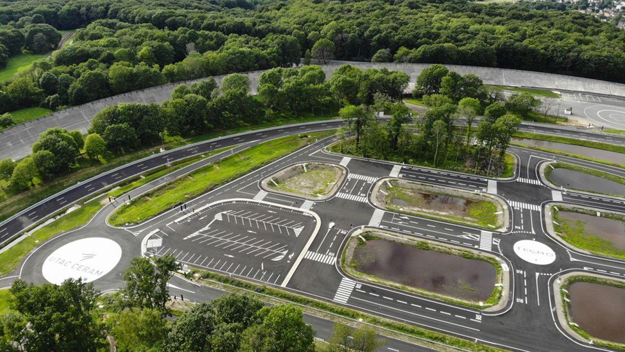 L'Utac Ceram a investi 20millions d'euros dans un tout nouveau centre d'essais dédié aux voitures autonomes, à Linas-Montlhery (Essonne).