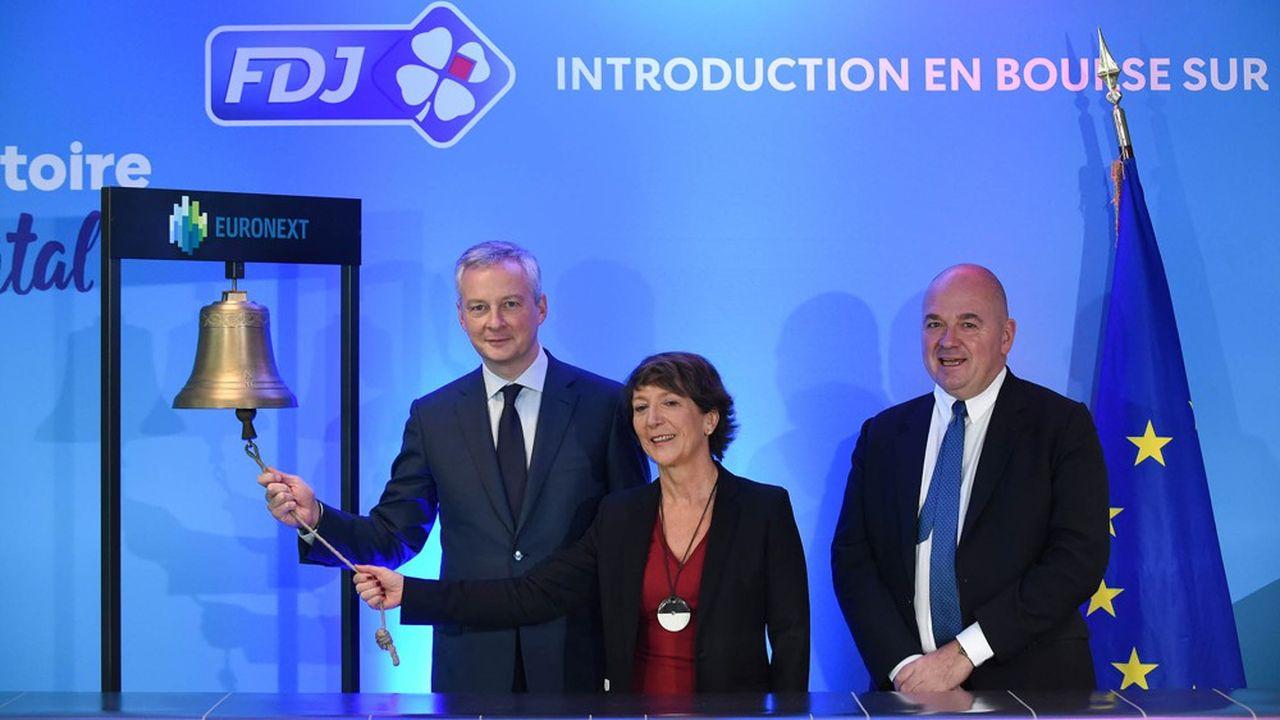Cérémonie d'introduction en Bourse de La Française des Jeux.