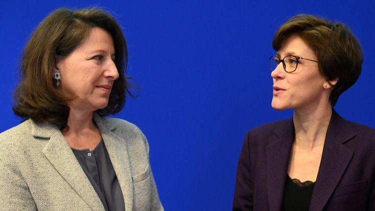 Agnès Buzyn, ministre des Solidarites et de la Santé, et Christelle Dubos, secrétaire d'Etat.