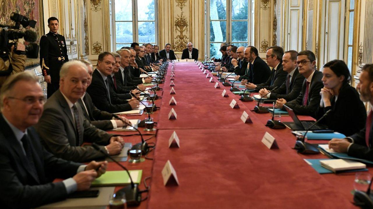 La réunion entre le Premier ministre et les partenaires sociaux s'est tenue à Matignon.