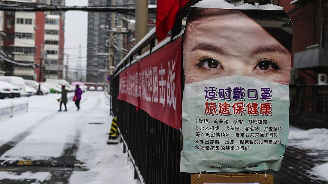 A Pékin, depuis l'irruption galopante de l'épidémie pulmonaire fin janvier dans le pays, la peur s'est immiscée dans tous les foyers.