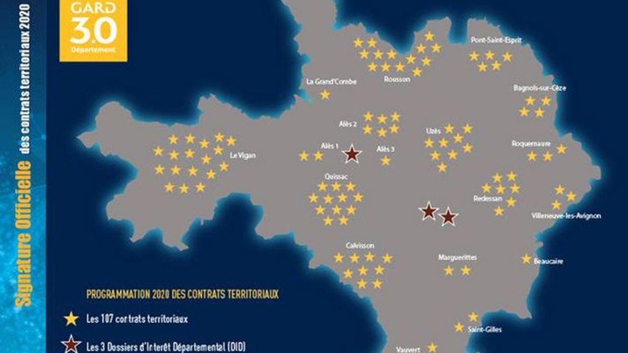 Le Gard signe 110 contrats territoriaux pour 2020