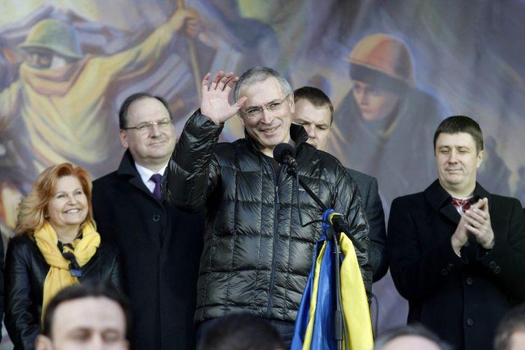 Mikhaïl Khodorkovski en mars2014 à Kiev, en Ukraine.