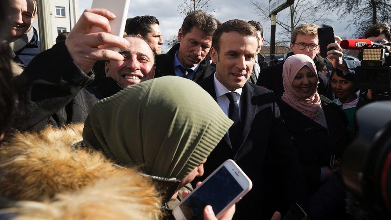 Emmanuel Macronce mardi à Mulhouse.