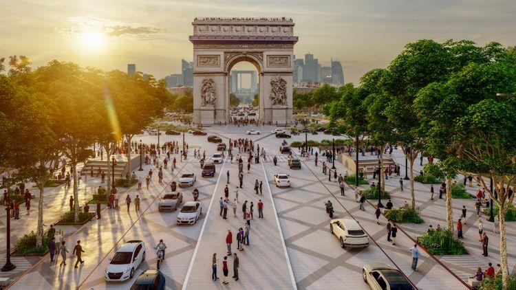 Un promontoire à selfies pourrait être créé au milieu de l'avenue des Champs-Elysées