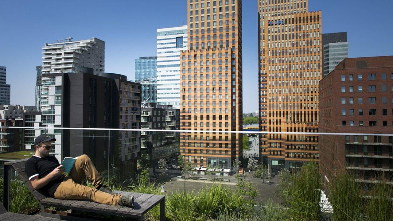 Le quartier d'affaires Zuidas, à Amsterdam.