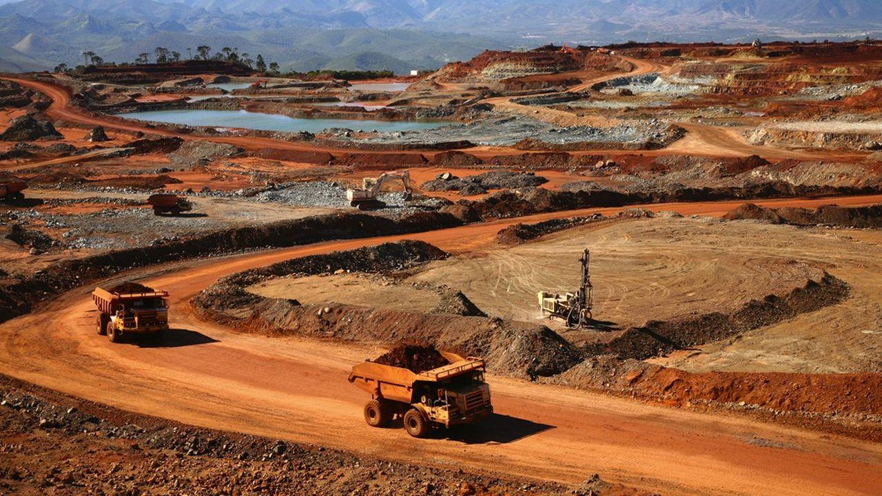 La mine à ciel ouvert de Tiébaghi - SLN, en Nouvelle-Calédonie.