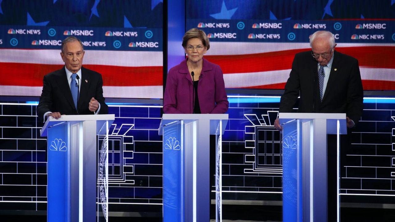 Les critiques ont été nombreuses contre Michael Bloomberg (photo: à gauche), en particulier de la part d'Elizabeth Warren et Bernie Sanders.