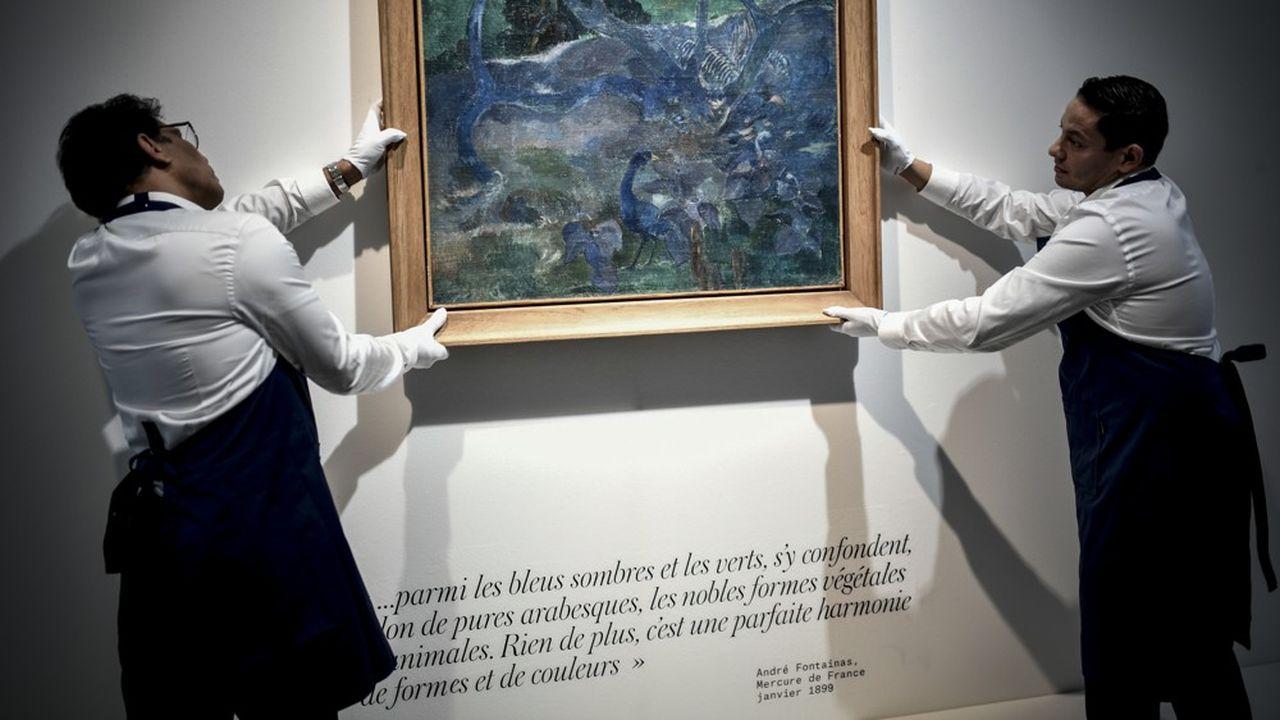 Le tableau «Te Bourao» du peintre Paul Gauguin a été vendu 9,5millions d'euros à Paris en octobre dernier.
