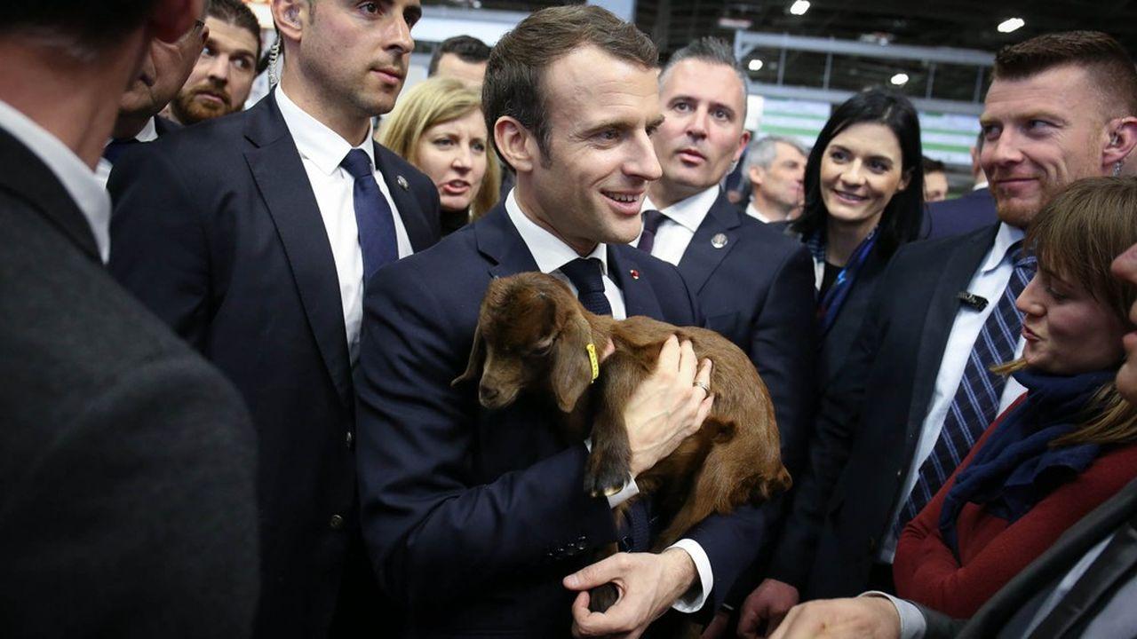 Le président de la Republique (ici en 2019) inaugurera le Salon de l'Agriculture, à Paris, samedi matin à son retour du sommet européen sur le Budget de l'UE.