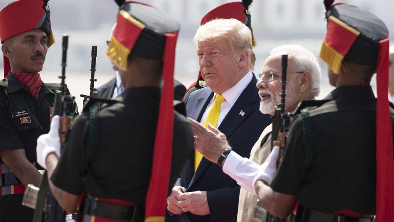 Donald Trump et Narendra Modi vont tenter de mettre en avant leur alchimie dans un contexte de frictions commerciales causées par leurs protectionnismes respectifs.