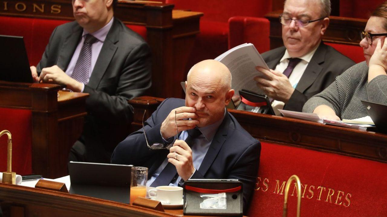Le secrétaire d'Etat aux retraites, Laurent Pietraszewski, à l'Assemblée nationale. Le premier article de la réforme des retraites a été adopté ce lundi après huit jours de débats.