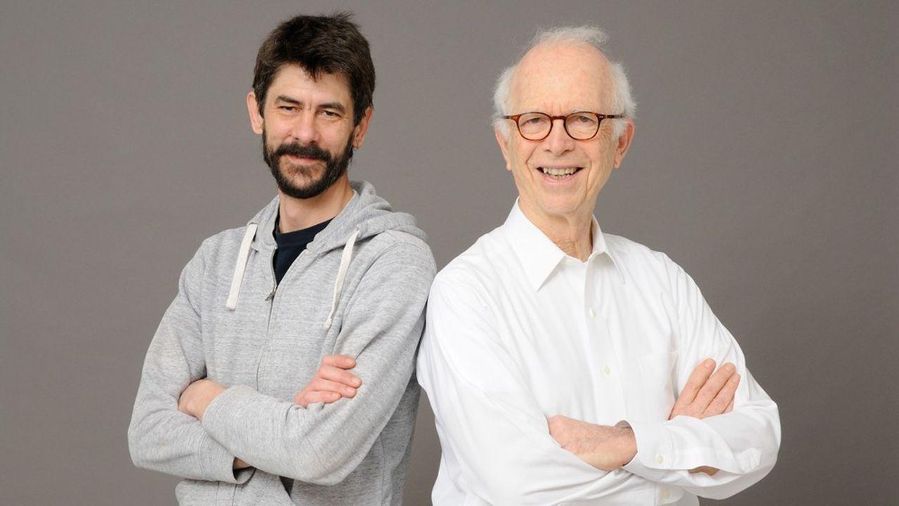 Le professeur Stuart Edelstein, président et directeur scientifique (droite) et Pierre Walrafen, directeur général (à gauche), les deux cofondateurs de Scipio bioscience.